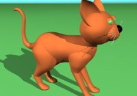 Final render of the cat.
