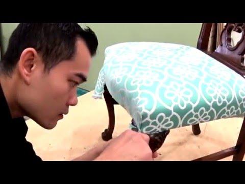 איך מרפדים כיסא ללא תפירה