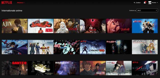 Netflix meer anime