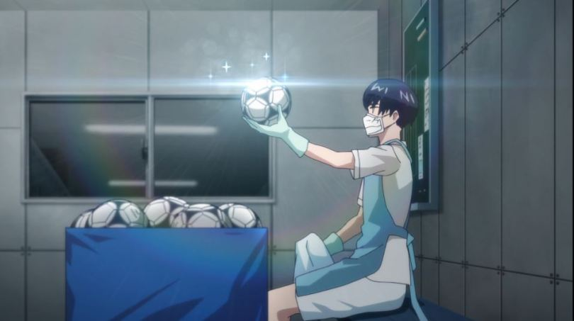 Aoyama polishes soccer balls