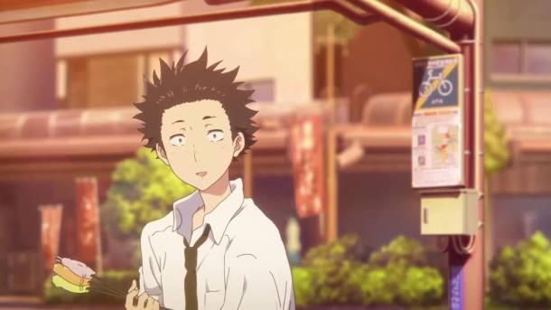 Teen Shouya looking awkward