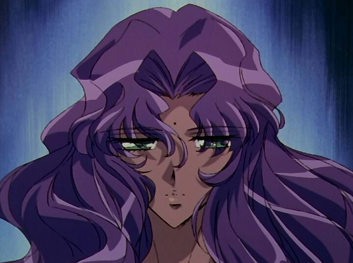 Anthy with her hair down and a blank, traumatized expression