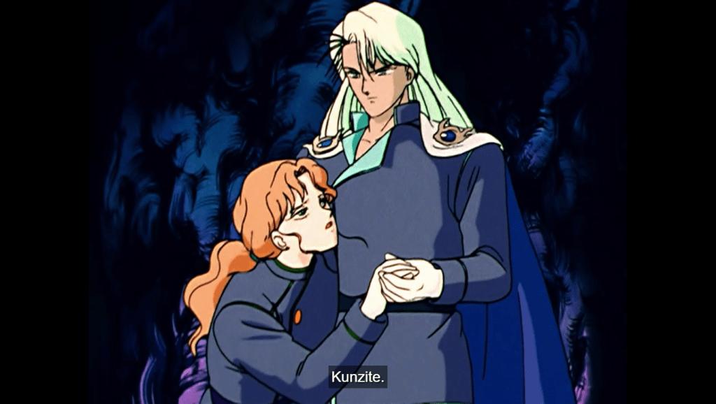 Kunzite supporting an injured Zoisite. subtitle: Kunzite...
