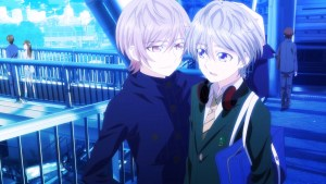 Two teen boys in different school uniforms standing next to each other