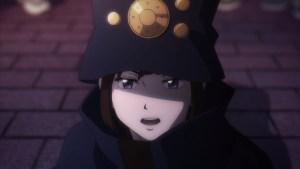 A close-up of Boogiepop Phantom, smiling slightly
