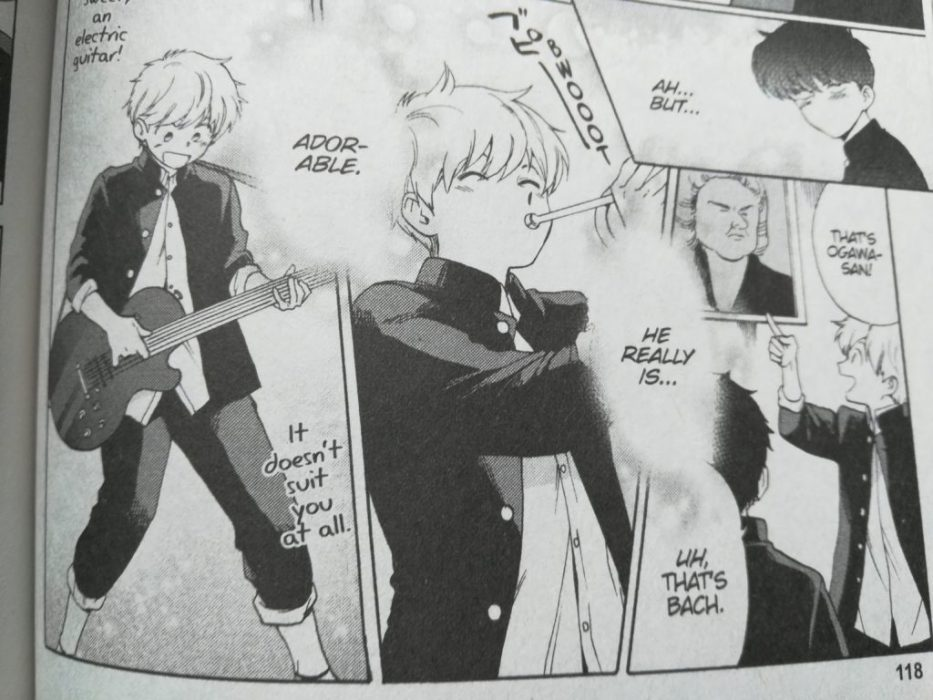 an excited Hirose plays multiple instruments while Nakamura thinks about how adorable he is