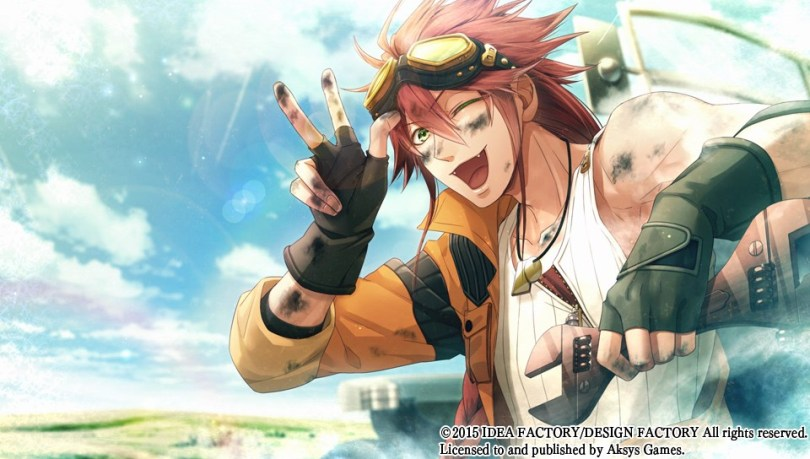 Impey from Code Realize winking toward the camera and making a peace sign