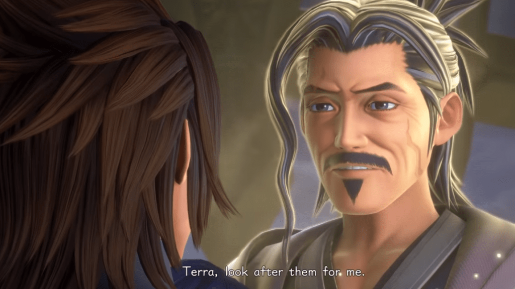 """Eraqus looks at Terra and says """"Look after them"""""""