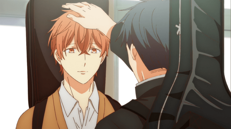 Ritsuka from given patting Mafuyu's head