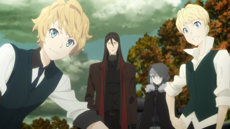 The four main characters of The Case Files of Lord El-Melloi II
