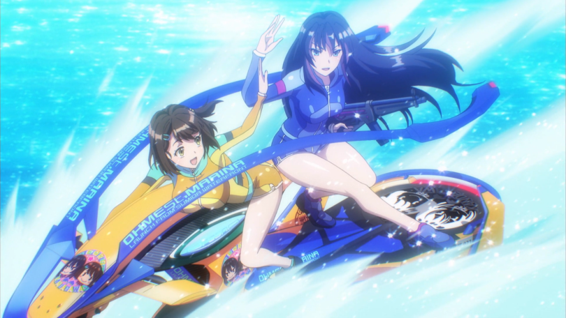 Misa and Rin on their jet ski