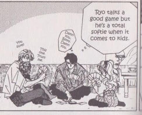 Dee thinking Ryo is a softy around kids
