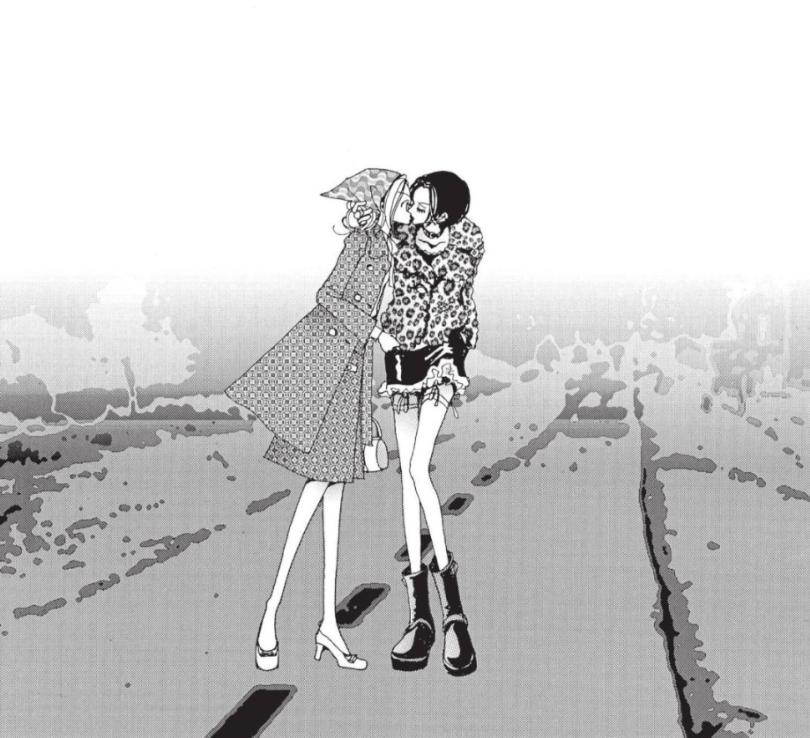 Nana kisses Hachi