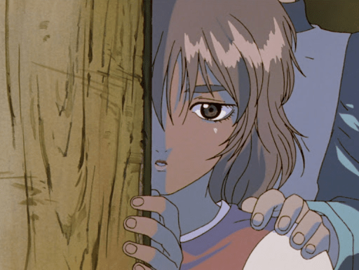 Young Casca peeking out from a doorway