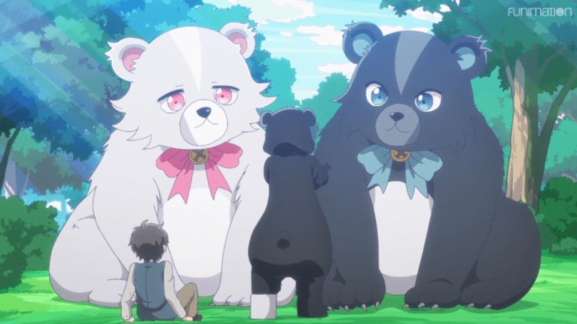 Yuna summons her two Summon Beasts: a black bear named Kumayuru and a white bear named Kumakyu.