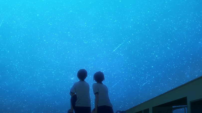 Middle school Rin and Haru watching the stars