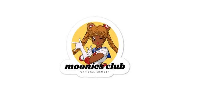 a Moonies club sticker