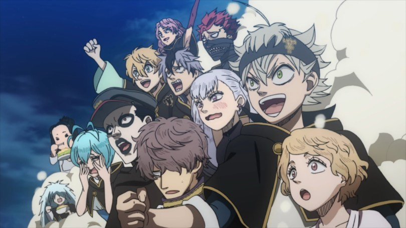 A groupe shot of the Black Clover cast