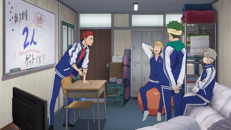 The boys of the Soshukan gym club meet ahead of their first meeting of the new school year.