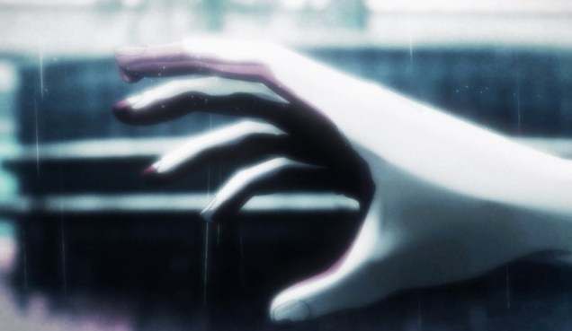 Ryuhei's older brother bloody hand reaching out to him.