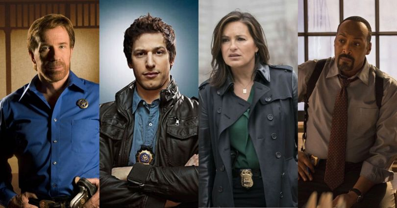 four main characters from western cop shows