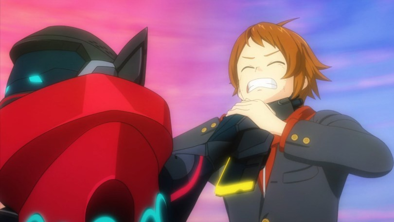 Kakeru tries to survive a mental attack from an Oni possessing a Yoroi suit.