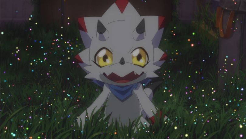 a small white dino Digimon