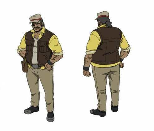 Megalobox Character Visual - Gansaku Nanbu 001 - 20180208