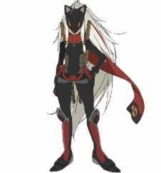 Black Fox Character Visual - Girl In Fox Mask