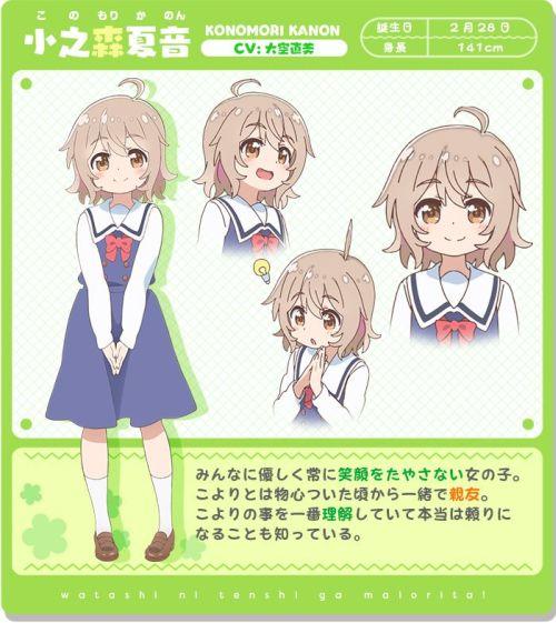 Watashi ni Tenshi ga Maiorita Character Visual - Kanon Konomori