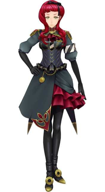 Sakura Wars B.L.A.C.K. Character Visual depicting a red-haired girl in a black military uniform.
