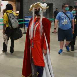 Photo of a cosplayer dressed as Edelgard from Fire Emblem: Three Houses at Otakon 2021