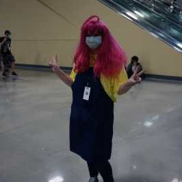 Photo of a cosplayer at Otakon 2021 dressed as Nao from Your Turn To Die