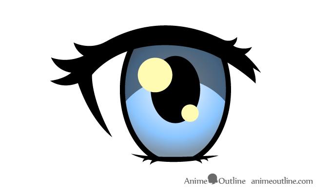 Female anime eye color drawing