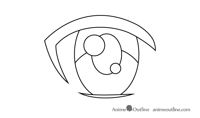Female anime eye secondary light reflection