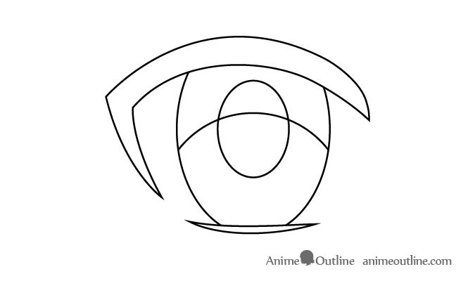 Female anime eye upper area