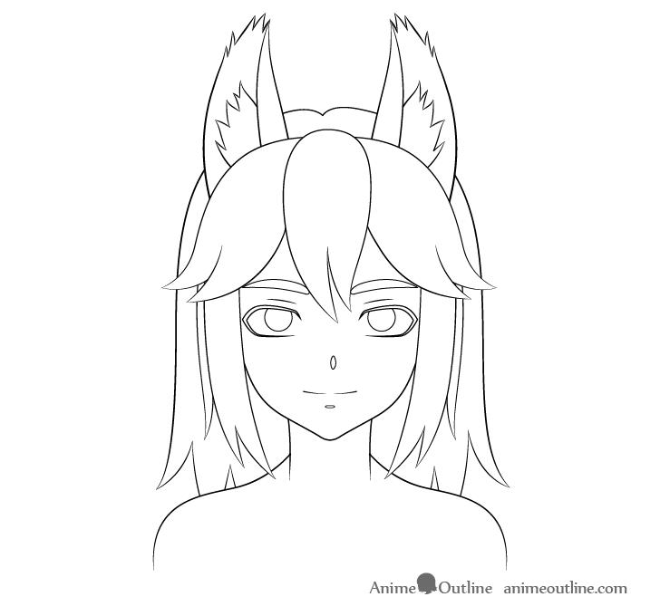 How To Draw Anime Wolf Girl Step By Step Animeoutline