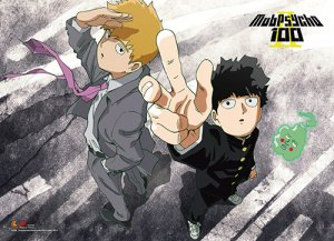 mob psycho 100 s2 kageyama and reigen wall scroll poster u s customers only