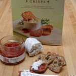 Raisin Rosemary Crisps with Quince Jam and Goat Cheese