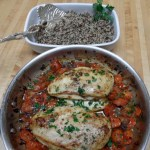 Chicken with Tarragon Roasted Tomatoes and Pan Juice