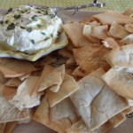 Feta and Lemon Dip with Pita Chips