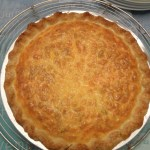 Quiche with Pancetta, Onions, Red Pepper and Thyme