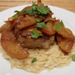 Pork Chops with Roasted Onions and Apples