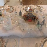 Putz Christmas Cottage Tablescape