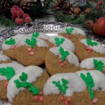 Crystallized Ginger Cookies Dipped in White Chocolate