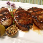 Jamaican Jerk Marinated Pork Chops with Tamarind-Ginger Glaze