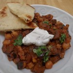 Moroccan Spiced Turkey and Chickpea Chili with Lebnah Cheese and Chermoula