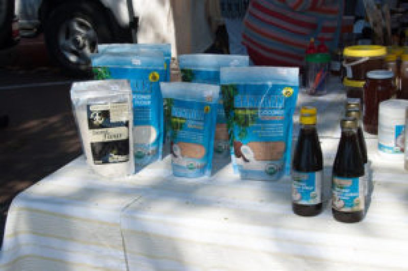 Coconut Products at the Cleveland Markets, Brisbane SE Australia