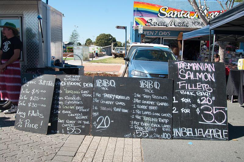 Mad Butcher at the Cleveland Markets, Brisbane SE Australia