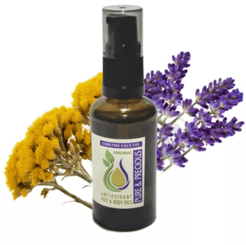 Sublime Face Oil for Oily, Acne Skin helps to balance skin's sebum, leaving a healthier looking skin
